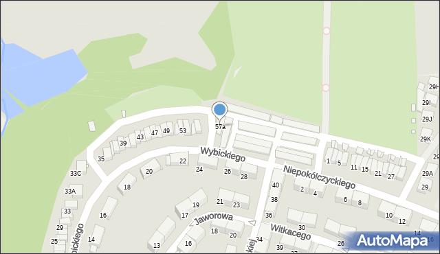 Zabrze, Wybickiego Józefa, gen., 57a, mapa Zabrza