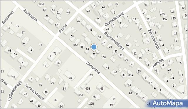 Bolszewo, Zamostna, 52, mapa Bolszewo