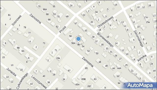 Bolszewo, Zamostna, 56, mapa Bolszewo