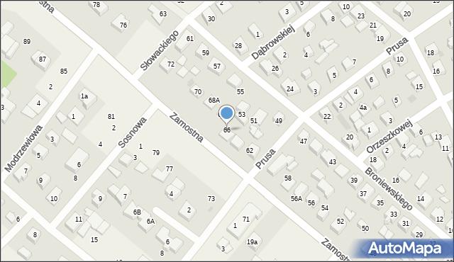 Bolszewo, Zamostna, 66, mapa Bolszewo
