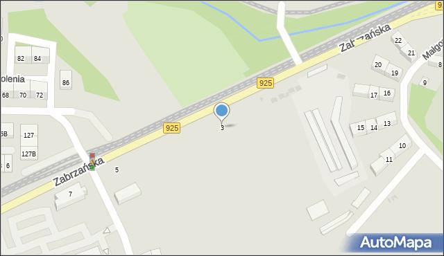 Bytom, Zabrzańska, 3, mapa Bytomia