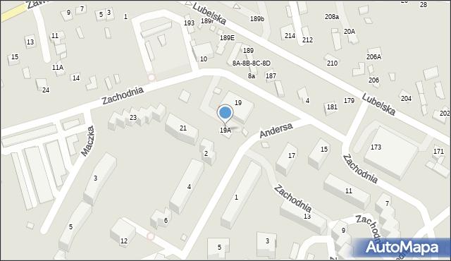 Chełm, Zachodnia, 19A, mapa Chełma