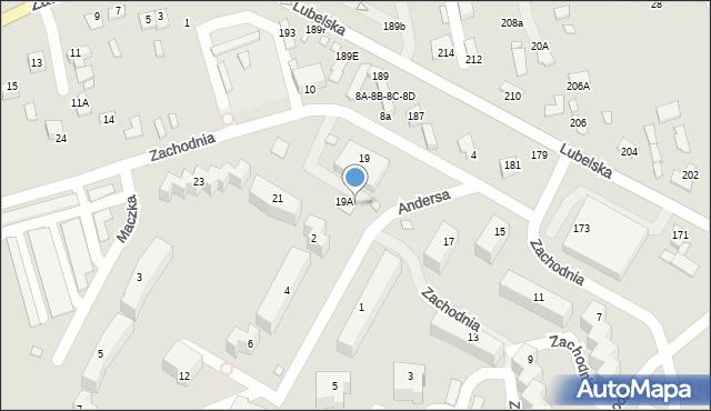 Chełm, Zachodnia, 19B, mapa Chełma
