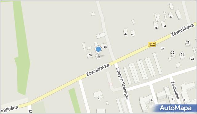 Chełm, Zachodnia, 48, mapa Chełma
