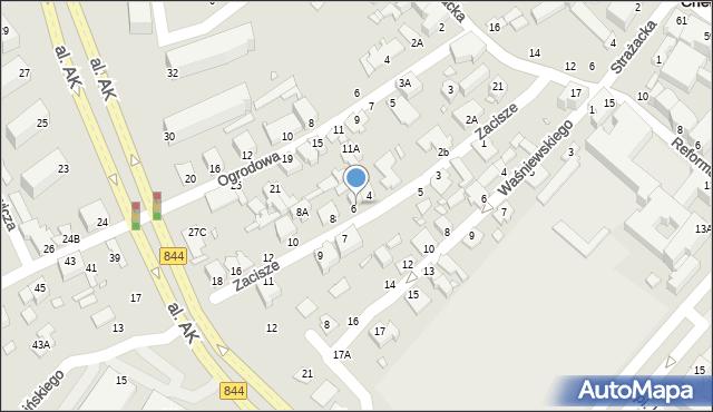 Chełm, Zacisze, 6A, mapa Chełma