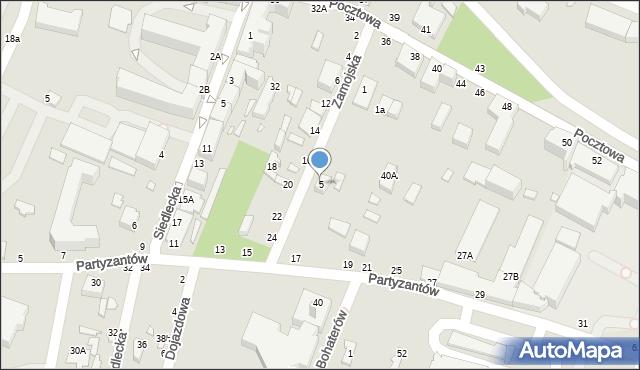 Chełm, Zamojska, 5, mapa Chełma