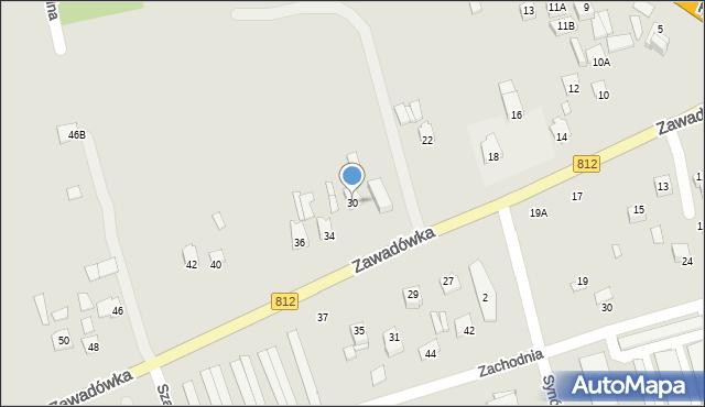 Chełm, Zawadówka, 30, mapa Chełma