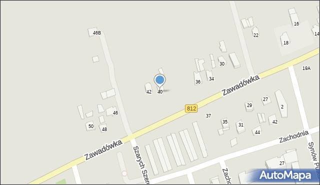 Chełm, Zawadówka, 40, mapa Chełma