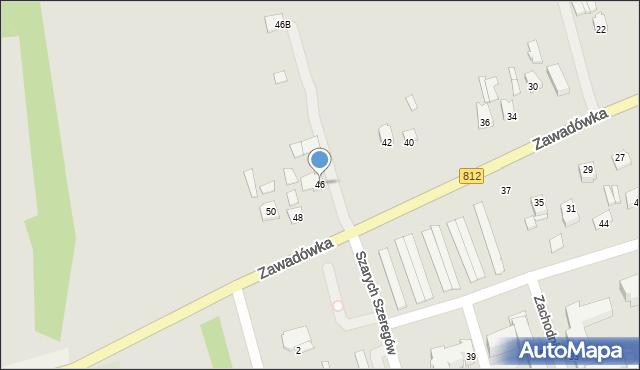 Chełm, Zawadówka, 46, mapa Chełma