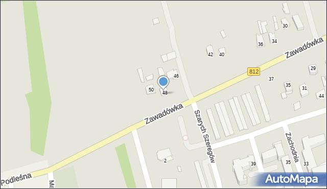 Chełm, Zawadówka, 48, mapa Chełma