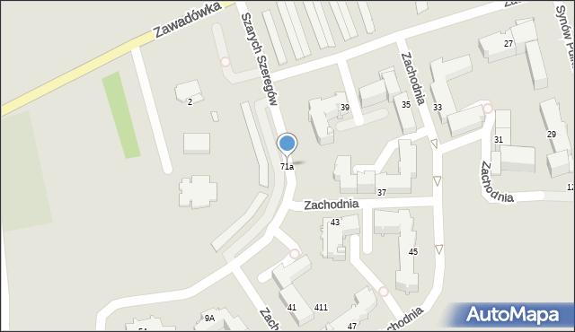 Chełm, Zawadówka, 71a, mapa Chełma