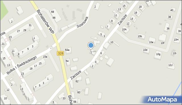 Chocianów, Zacisze, 1, mapa Chocianów
