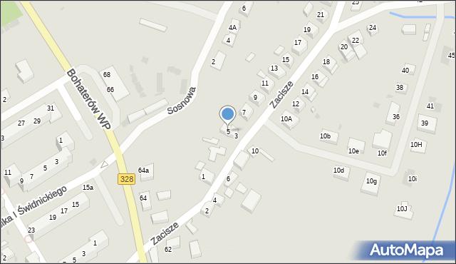 Chocianów, Zacisze, 5, mapa Chocianów