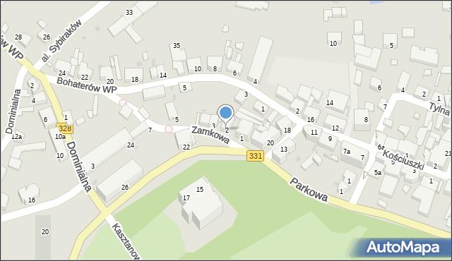 Chocianów, Zamkowa, 2, mapa Chocianów