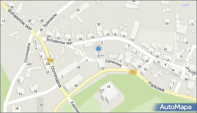 Chocianów, Zamkowa, 5, mapa Chocianów