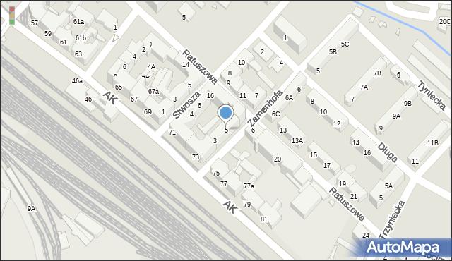 Chorzów, Zamenhofa Ludwika, dr., 5, mapa Chorzów