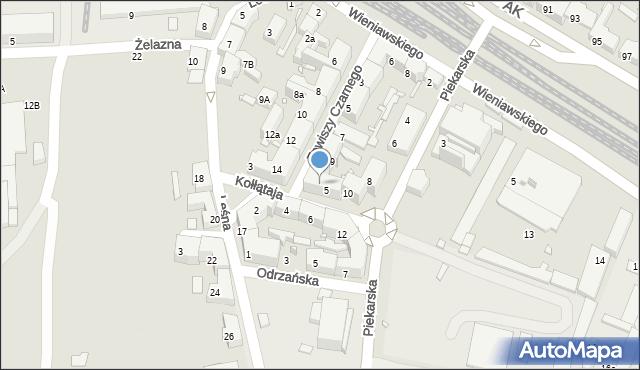 Chorzów, Zawiszy Czarnego, 11, mapa Chorzów