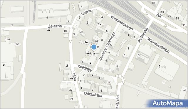 Chorzów, Zawiszy Czarnego, 12, mapa Chorzów
