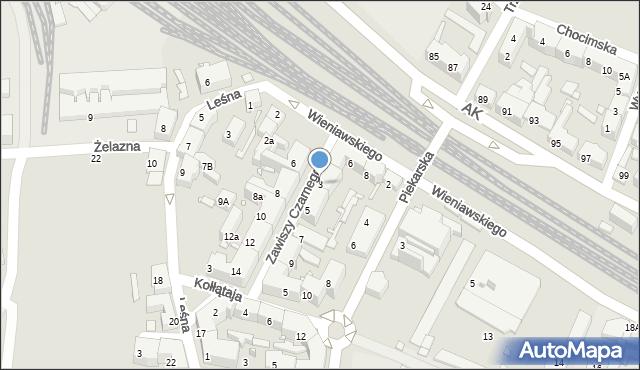 Chorzów, Zawiszy Czarnego, 3, mapa Chorzów