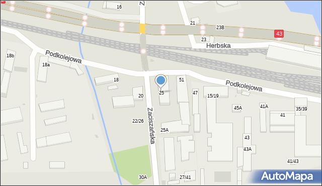 Częstochowa, Zaciszańska, 25, mapa Częstochowy
