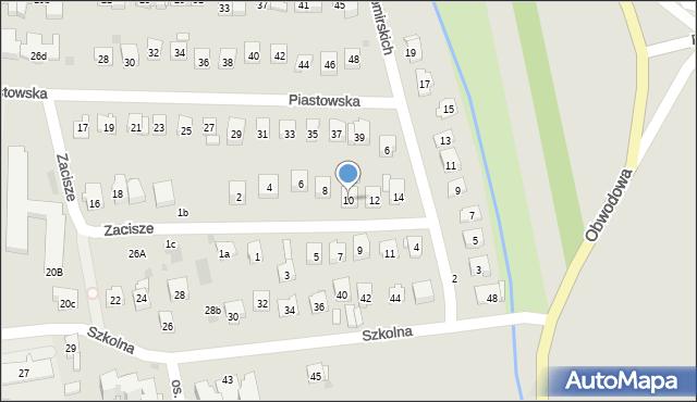 Dobczyce, Zacisze, 10, mapa Dobczyce