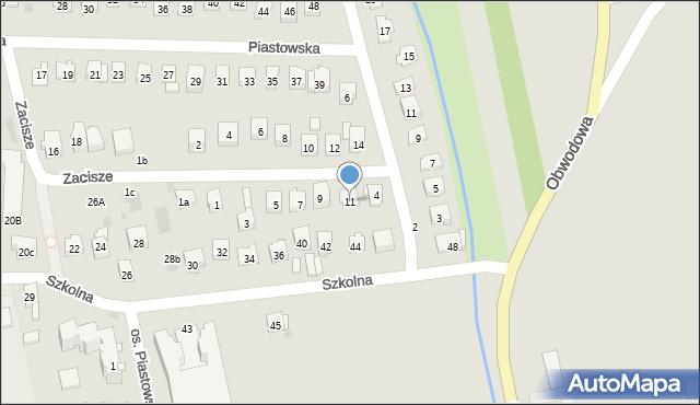 Dobczyce, Zacisze, 11, mapa Dobczyce