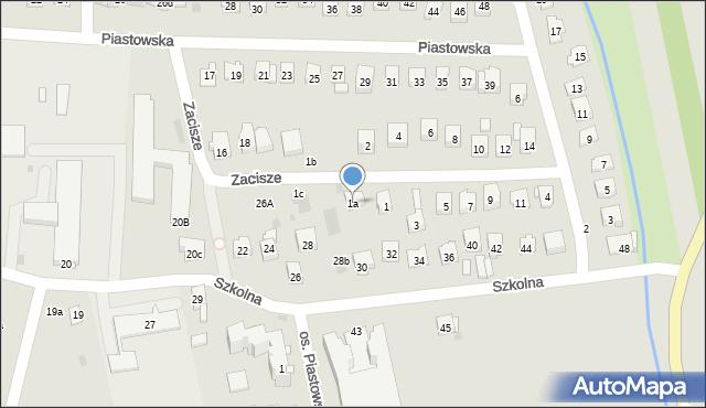 Dobczyce, Zacisze, 1a, mapa Dobczyce