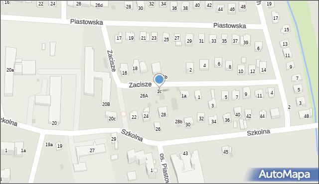 Dobczyce, Zacisze, 1c, mapa Dobczyce