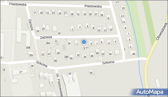 Dobczyce, Zacisze, 3, mapa Dobczyce