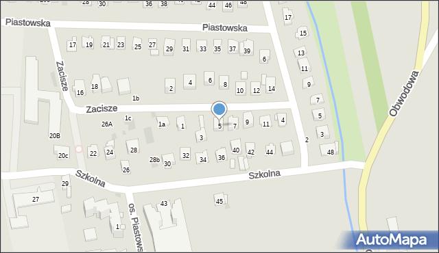 Dobczyce, Zacisze, 5, mapa Dobczyce