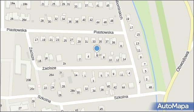 Dobczyce, Zacisze, 6, mapa Dobczyce