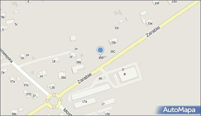 Dobczyce, Zarabie, 35D, mapa Dobczyce