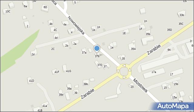 Dobczyce, Zarabie, 37b, mapa Dobczyce
