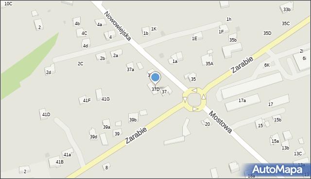 Dobczyce, Zarabie, 37D, mapa Dobczyce