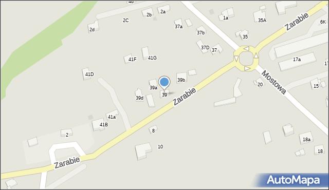 Dobczyce, Zarabie, 39, mapa Dobczyce