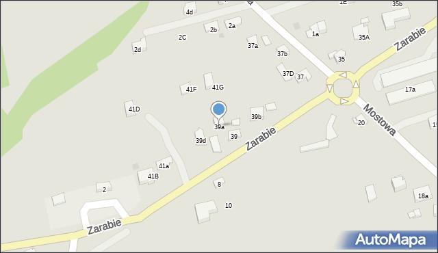 Dobczyce, Zarabie, 39a, mapa Dobczyce