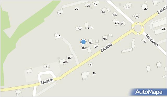 Dobczyce, Zarabie, 39d, mapa Dobczyce
