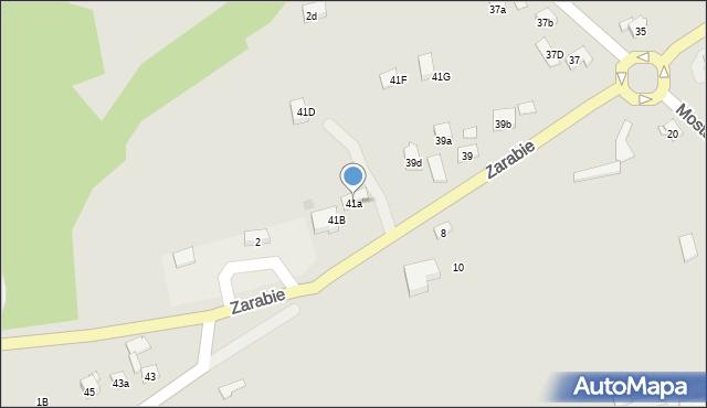 Dobczyce, Zarabie, 41a, mapa Dobczyce