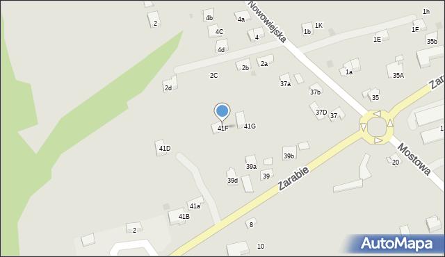 Dobczyce, Zarabie, 41F, mapa Dobczyce