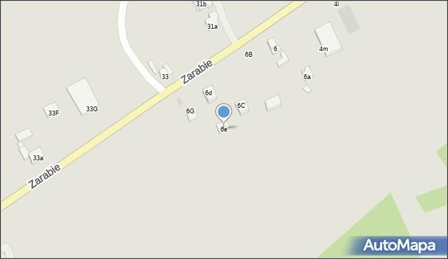 Dobczyce, Zarabie, 6e, mapa Dobczyce