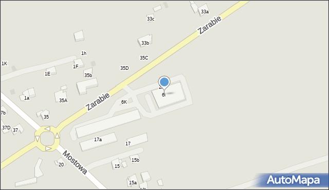 Dobczyce, Zarabie, 6i, mapa Dobczyce