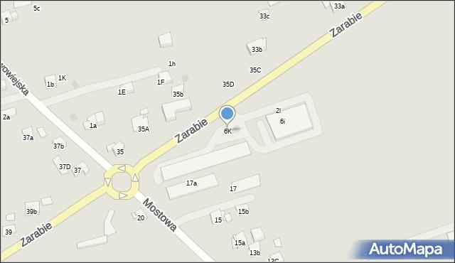 Dobczyce, Zarabie, 6j, mapa Dobczyce