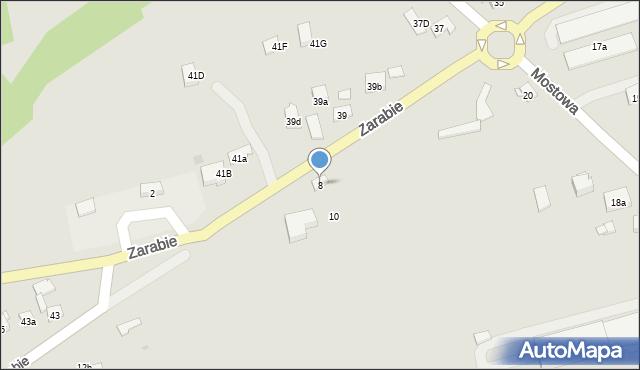 Dobczyce, Zarabie, 8, mapa Dobczyce