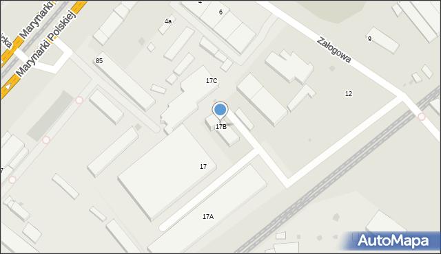 Gdańsk, Załogowa, 17B, mapa Gdańska