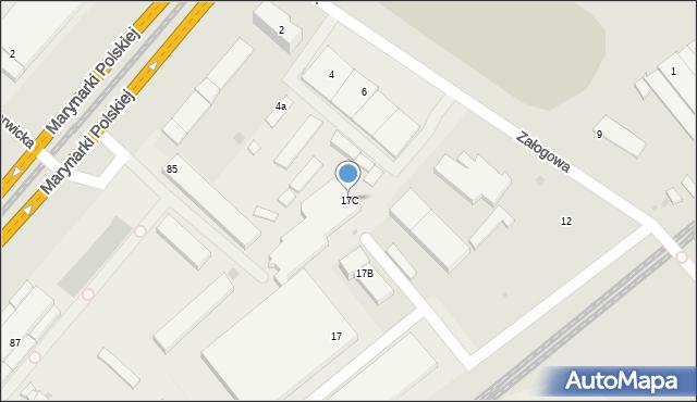 Gdańsk, Załogowa, 17C, mapa Gdańska