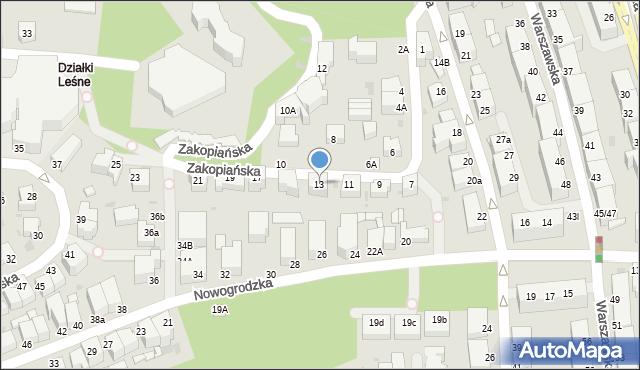 Gdynia, Zakopiańska, 13, mapa Gdyni