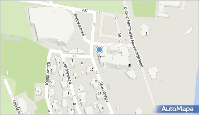 Gdynia, Zawiszy Czarnego, 1A, mapa Gdyni