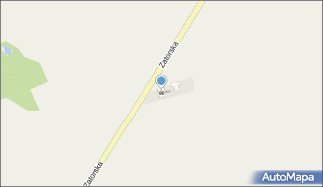 Gierałtowice, Zatorska, 98, mapa Gierałtowice