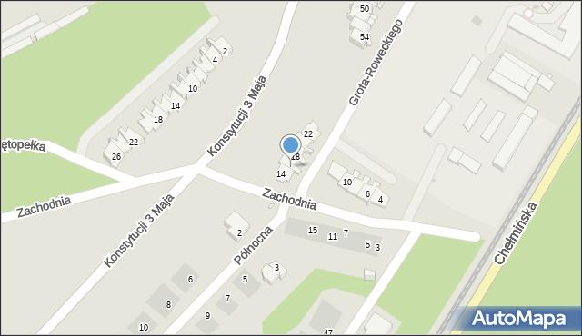Grudziądz, Zachodnia, 16, mapa Grudziądza