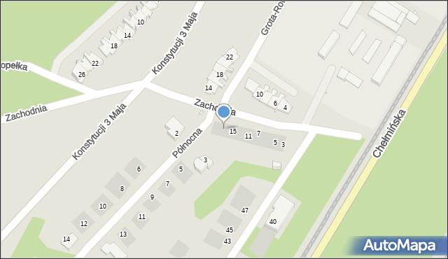 Grudziądz, Zachodnia, 17, mapa Grudziądza